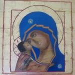 Madonna della Tenerezza - dipinto su tavola 50x50